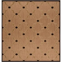 "Aubrey Transitional Geometric Indoor/ Outdoor Area Rug - 7'6"" square"