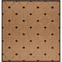 Aubrey Transitional Geometric Indoor/ Outdoor Area Rug (7'6 x 7'6)