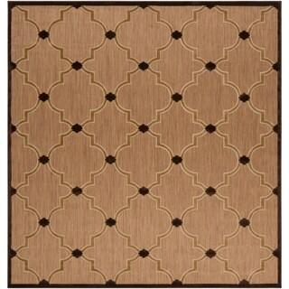 Aubrey Transitional Geometric Indoor/ Outdoor Area Rug (7'6 x 7'6)