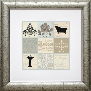 Paula Scaletta 'Bath Collage I' Framed Art Print