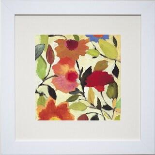 Kim Parker 'Begonias' Framed Art Print