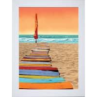 Robin Renee Hix 'Orange Beachwalk' Framed Art Print - Multi