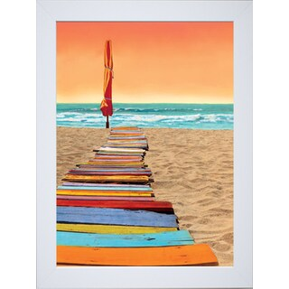 Robin Renee Hix 'Orange Beachwalk' Framed Art Print - Multi