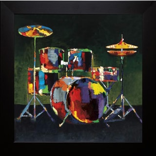 Elli and John Milan 'Drum Set' Framed Art Print