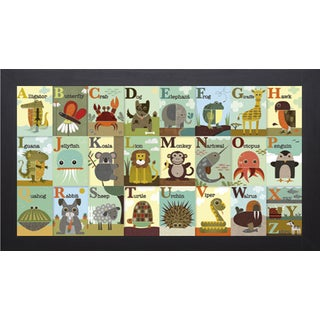 Jenn Ski 'Alphabet Zoo' Framed Art Print