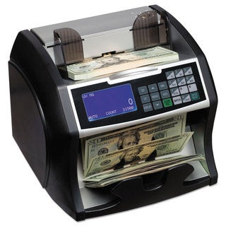 Royal Sovereign Black/Silver Electric Bill Counter with Counterfeit Detection 900-1400 Bills/Min