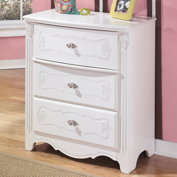 Shop Signature Designs By Ashley Exquisite White 3 Drawer