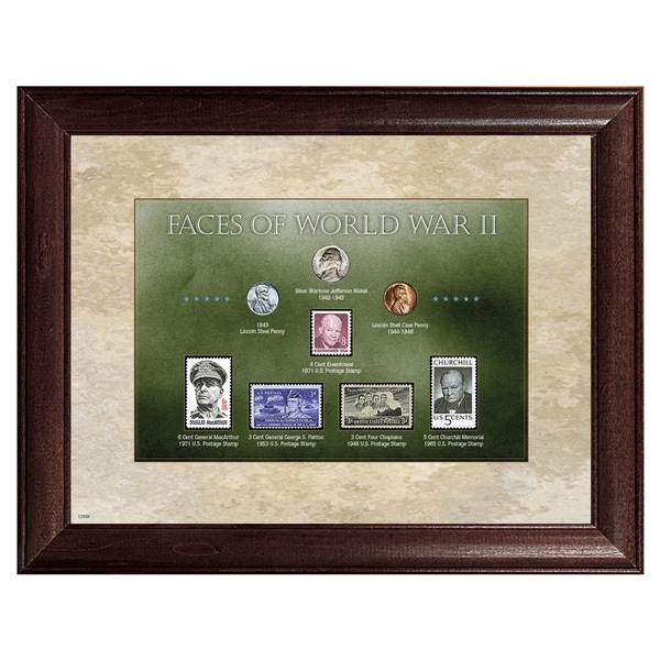 American Coin Treasures Faces of World War II Stamp and Coin Collection