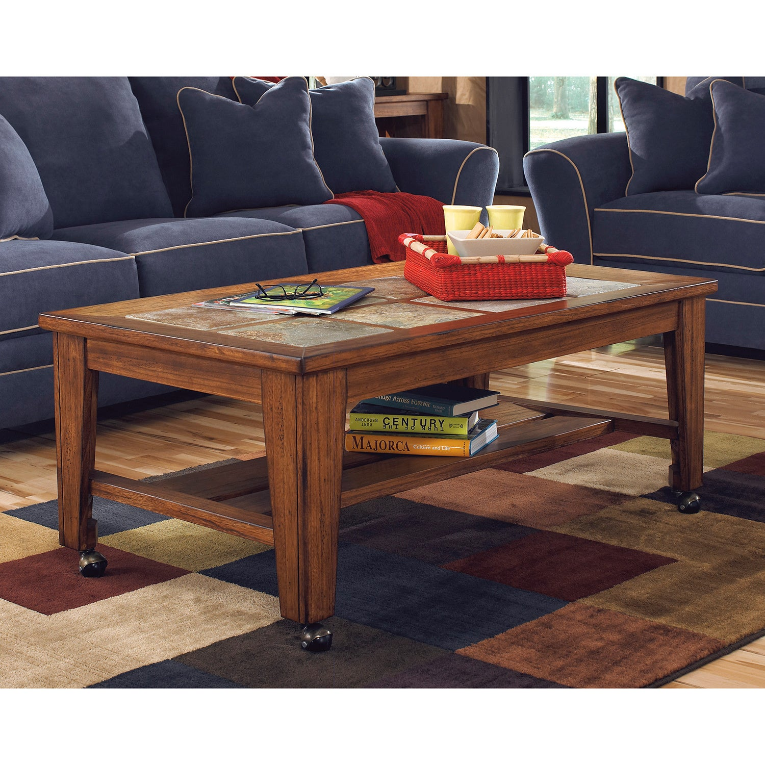 Signature Design By Ashley Toscana Rectangular Cocktail Table Overstock 9115515