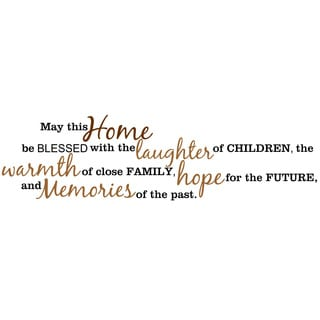 May this Home Be Blessed... Inspirational Vinyl Wall Art
