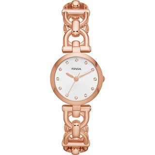 Fossil Women's  Olive Analog Rose Goldplated Watch