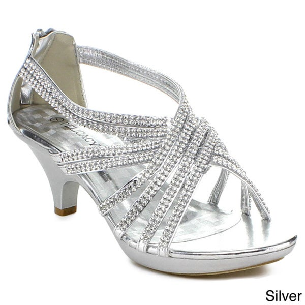 Delicacy Women's Rhinestone Embellished Strappy Heels - Free Shipping ...