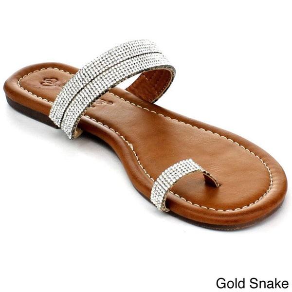 Shop Dbdk Women S Lirika 2 Rhinestone Toe Ring Sandals