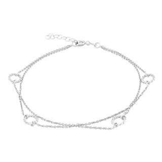 La Preciosa Sterling Silver Circles Anklet