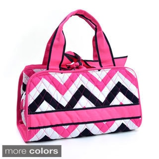 Chevron Print Quilted Bag