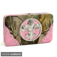 Realtree Camouflage Rhinestone Fleur De Lis Wallet