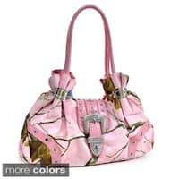 Realtree Rhinestone Buckle Accent Camouflage Shoulder Bag