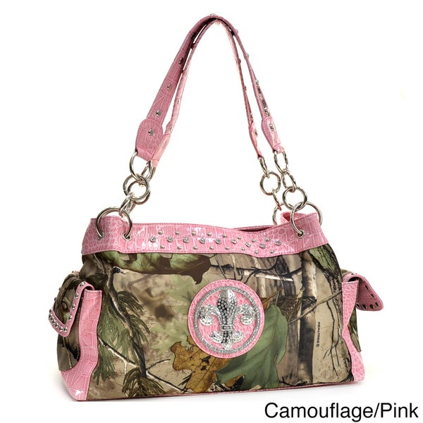 Realtree Camouflage Fleur de Lis Accent Shoulder Bag
