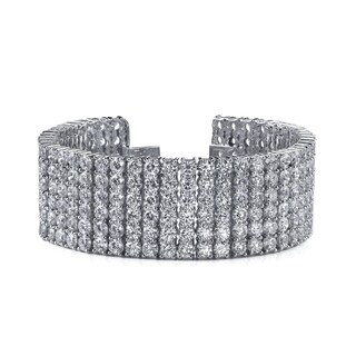 14k White Gold 42ct TDW Pave Diamond Tennis Bracelet