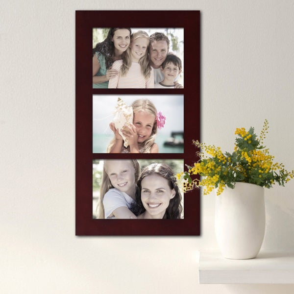 Shop Adeco Decorative Walnut Color Wood Wall Hanging 4x6 Photo Frame
