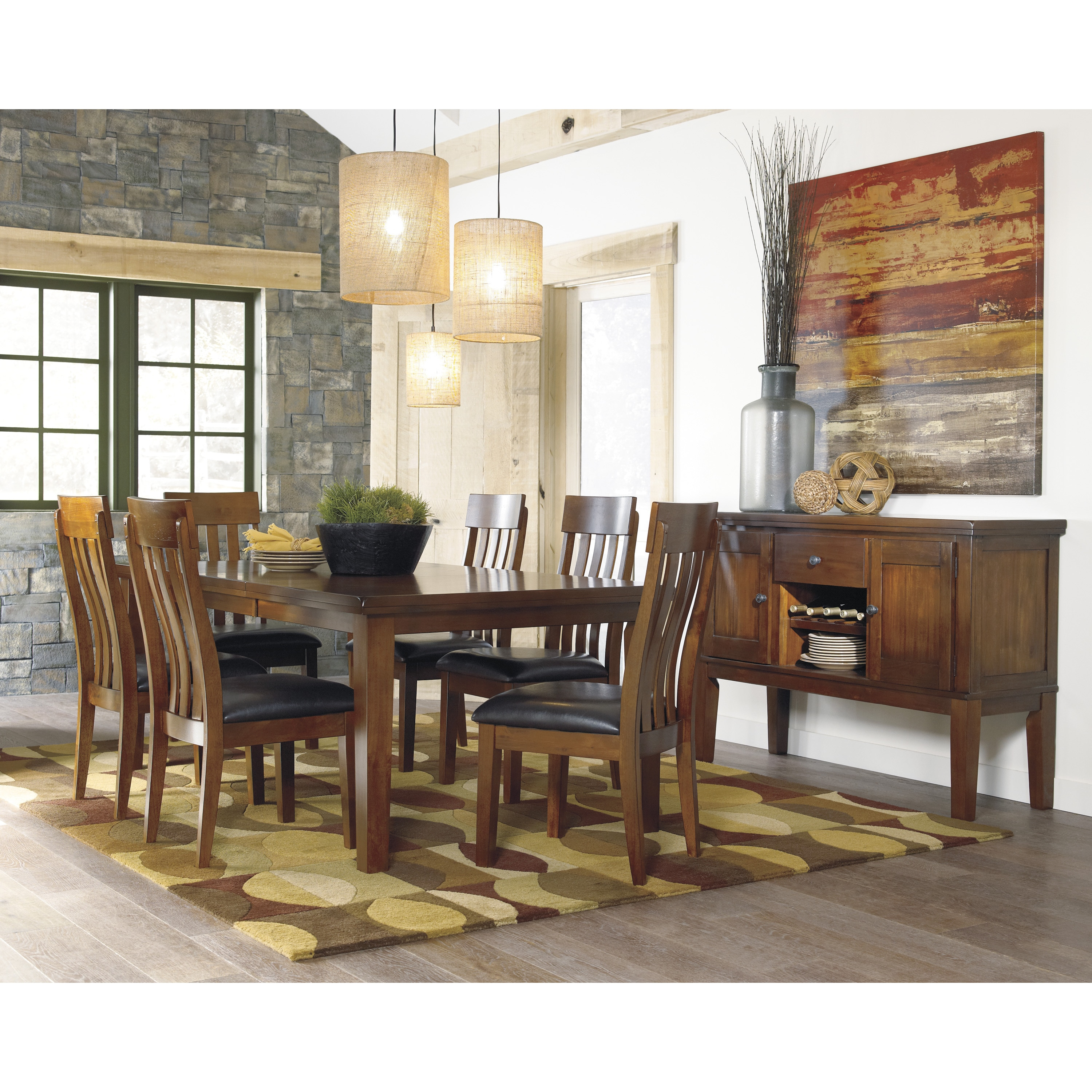 Ralene Rectangular Butterfly Extension Dining Table