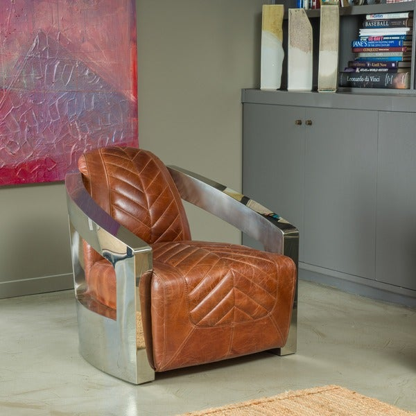 Delicieux Lovell Top Grain Leather Chair By Christopher Knight Home