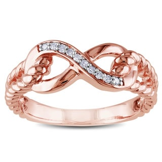 Miadora 10k Rose Gold Diamond Accent Infinity Rope Ring