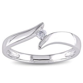 Miadora 10k White Gold Diamond Accent Bypass Ring