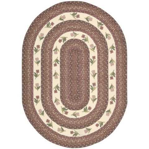 """Nourison Everywhere Ivory/ Rose Accent Rug - 7'6"""" x 9'6"""""""