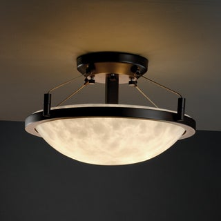 Justice Design Group Clouds 2-light Ring Dark Bronze Semi-flush