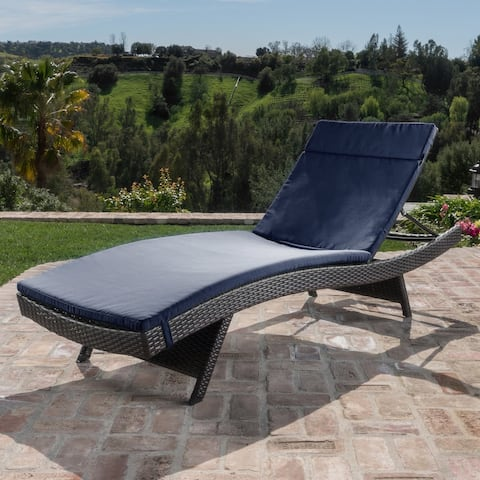Salem Outdoor Wicker Adjustable Chaise Lounge with Cushion by Havenside Home