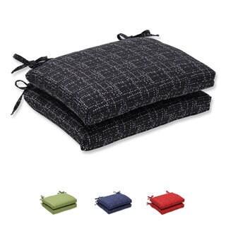 Pillow Perfect Squared Corners Seat Cushion with Bella-Dura Conran Fabric (Set of 2)