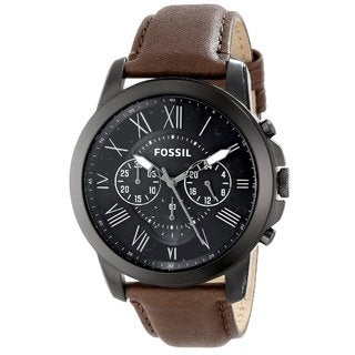 Fossil Men's FS4885 Grant Brown Chronograph Watch