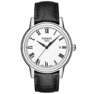 Tissot Men's T0854101601300 Carson White Dial Black Leather Watch