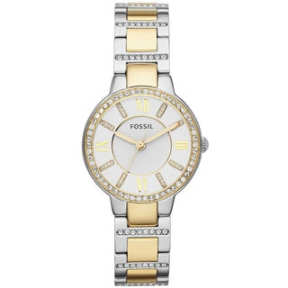 Fossil Women's ES3503 Virginia Two-tone Crystal Watch