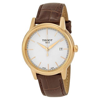 Tissot Men's T0854103601100 Carson White Dial Brown Leather Watch