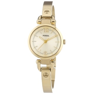 Fossil Women's ES3270 'Georgia' Goldtone Stainless Steel Watch
