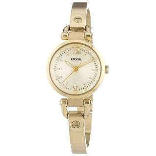 Fossil Women's ES3270 'Georgia' Goldtone Stainless Steel Watch