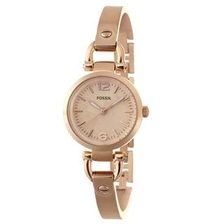 Fossil Women's ES3268 Georgia Rose Goldtone Watch