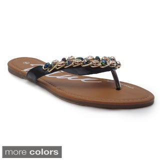 Blue Women's 'Barea' Chain and Beaded Sandals