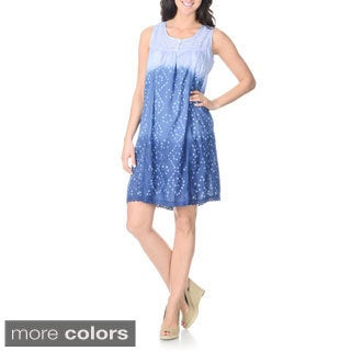 La Cera Women's Ombre Floral Embroidered Dress (2 options available)