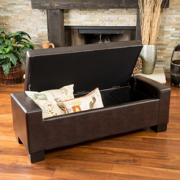 Shop Robert Storage Ottoman By Christopher Knight Home