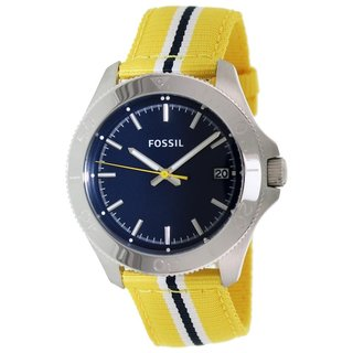 Fossil Women's AM4477 'Retro Traveler' Yellow Nylon Watch