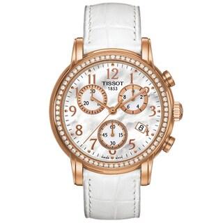 Tissot Women's T0502173611201 'Dressport' White Leather Watch