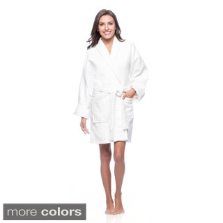 Aegean Apparel Women's Waffle Cotton Bathrobe