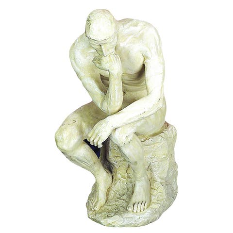 Strick & Bolton Miklos Polystone Thinker Statue