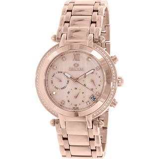 Precimax Women's PX13348 Glimmer Elite Rose Goldtone Mother of Pearl Watch|https://ak1.ostkcdn.com/images/products/9116286/P16301315.jpg?impolicy=medium