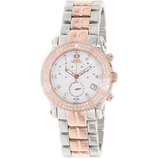 Swiss Precimax Women's SP13326 Tribeca Elite Two-tone Mother of Pearl Dial Chronograph Watch