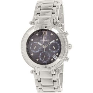 Precimax Women's PX13347 Glimmer Elite Stainless Steel Mother of Pearl Dial Watch|https://ak1.ostkcdn.com/images/products/9116297/P16301313.jpg?impolicy=medium