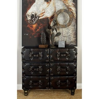 Wooden Leather Cabinet